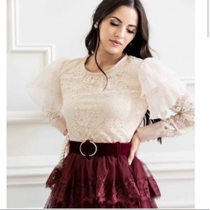 NWT Rachel Parcell Lace Top
